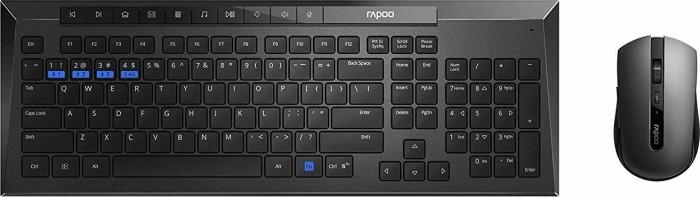 Rapoo 8200M Multi-mode Wireless Optical Combo schwarz, USB, DE (17984)