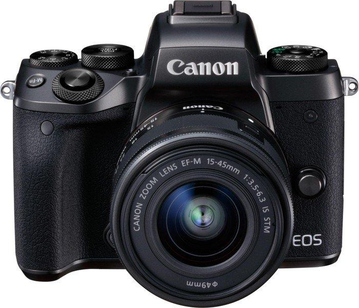Canon EOS M5 schwarz mit Objektiv EF-M 15-45mm 3.5-6.3 IS STM (1279C044)