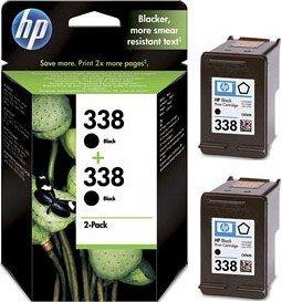 HP 338 Druckkopf mit Tinte schwarz, 2er-Pack (CB331EE)