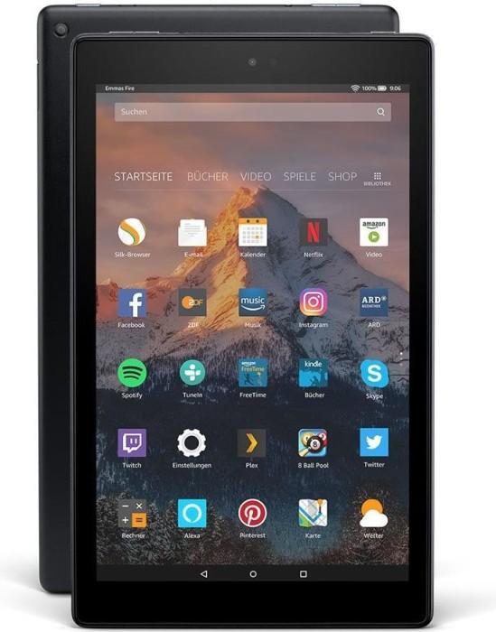 Amazon Fire HD 10 KFSUWI 2017, mit Werbung, 32GB, schwarz (53-005988)