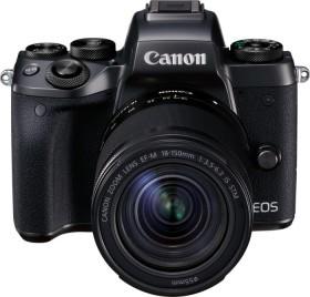 Canon EOS M5 schwarz mit Objektiv EF-M 18-150mm 3.5-6.3 IS STM (1279C047)
