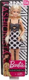Mattel Barbie Fashionistas mit langen blonden Haaren, Pünktchenkleid und Accessoires (GHW50)