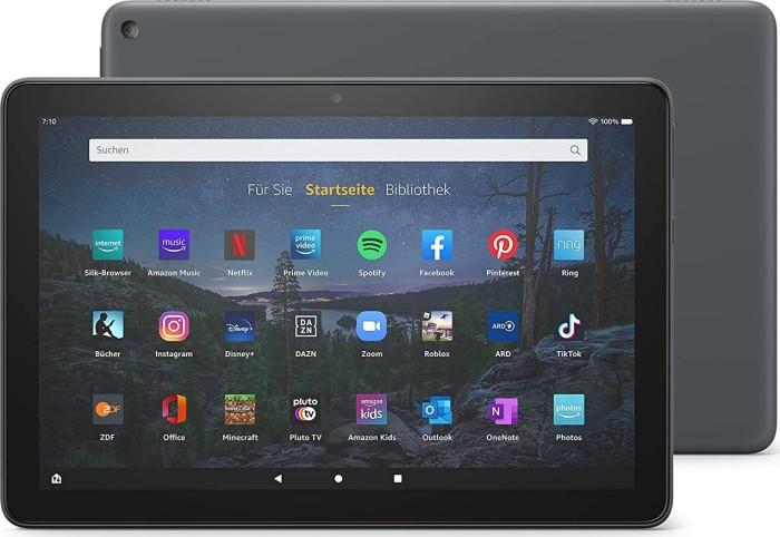 Amazon Fire HD 10 Plus T76N2P 2021, mit Werbung,  32GB, schiefergrau (53-025743)