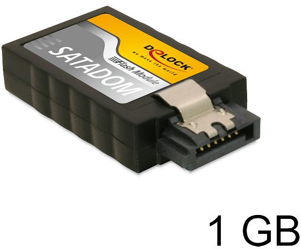 DeLOCK SATA Flash module vertical (SSD) 1GB, SATA 6Gb/s (54350)