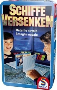 Battleship bring along game metal box
