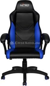 Nitro Concepts C100 Gamingstuhl, schwarz/blau (NC-C100-BB)