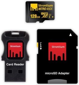 Strontium Nitro 466x R70 microSDXC 128GB Mobility Kit, UHS-I U1, Class 10 (SRN128GTFU1C)
