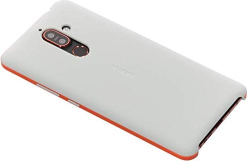 Nokia CC-506 Soft Touch Case für Nokia 7 Plus grau/orange (1A21RSH00VA) -- via Amazon Partnerprogramm