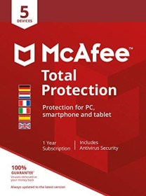 McAfee Total Protection 2020, 5 User, PKC (multilingual) (Multi-Device)