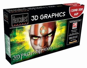 Guillemot / Hercules 3D Prophet 9000, Radeon 9000, 128MB DDR, DVI, TV-out, AGP, retail (250/200MHz) (4780234)