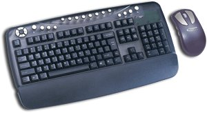 Typhoon Design Wireless keyboard Mouse zestaw czarny, PS/2, DE (40223/40400)