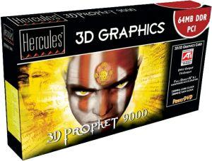 Guillemot Hercules 3D Prophet 9000, Radeon 9000, 64MB DDR, DVI, TV-out, PCI, retail [250/200MHz] (4780232)