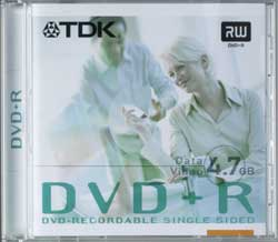 TDK DVD+R 4.7GB, 100-pack
