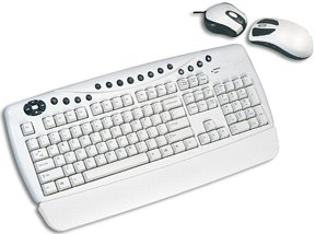 Typhoon Design Wireless keyboard Mouse zestaw biały, PS/2, DE (40217)