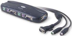 Belkin KVM Switch inkl. Kabel PS/2 (F1DJ104PEAB)