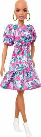 Mattel Barbie Fashionistas ohne Haare mit Blumenkleid (GHW64)
