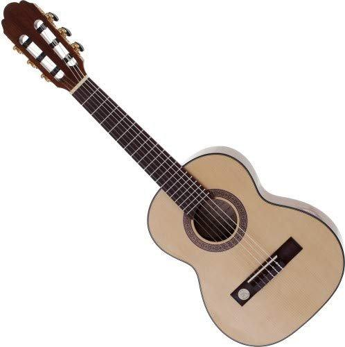 Schöne 1//4 Konzertgitarre für Kinder /& Schüler mit Hannabach Saiten Natur hell