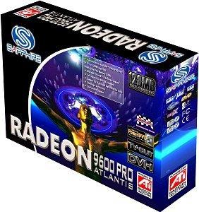 Sapphire Atlantis Radeon 9600 Pro, 128MB DDR, DVI, ViVo, AGP