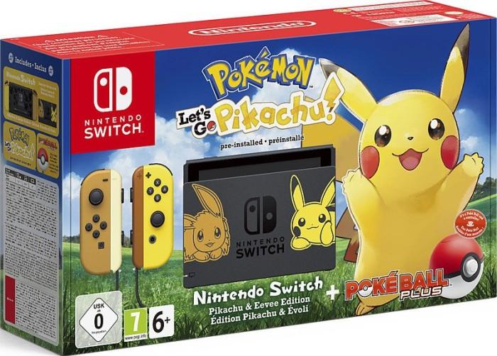Nintendo Switch - Pokémon: Let's Go - Pikachu! Bundle schwarz/braun/gelb (2500466)
