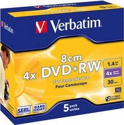 Verbatim DVD+RW 1.4GB 4x, 5er-Pack (43565)