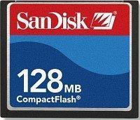 SanDisk CompactFlash Card [CF] 128MB (SDCFB-128) -- © SanDisk