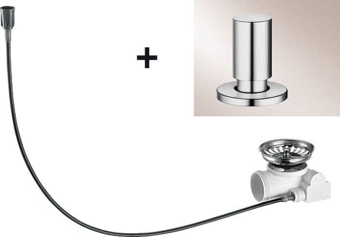 Blanco drain remote-retrofit kit pull knob circular chrome (517544)
