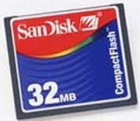 SanDisk CompactFlash Card [CF] 32MB (SDCFB-32) -- © SanDisk