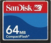 SanDisk CompactFlash Card [CF] 64MB (SDCFB-64) -- © SanDisk
