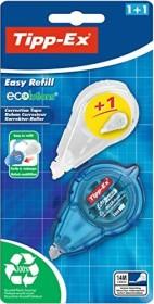 BIC Tipp-Ex Easy refill 5mm/14m weiß inkl. Nachfüllkassette, Korrekturroller längs, Blister (8794401)