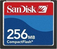 SanDisk CompactFlash Card [CF] 256MB (SDCFB-256)