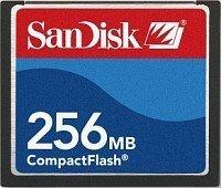 SanDisk CompactFlash Card (CF) 256MB (SDCFB-256) -- © SanDisk