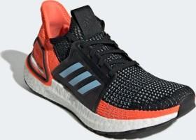 adidas Ultra Boost 19 core black/glow blue/hi-res coral (Damen) (G27482)