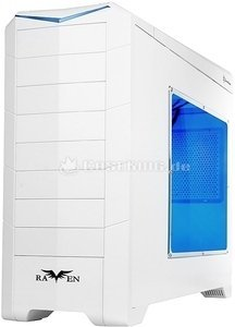 SilverStone Raven Evolution RV02-EW white with side panel window (SST-RV02W-EW) -- © caseking.de