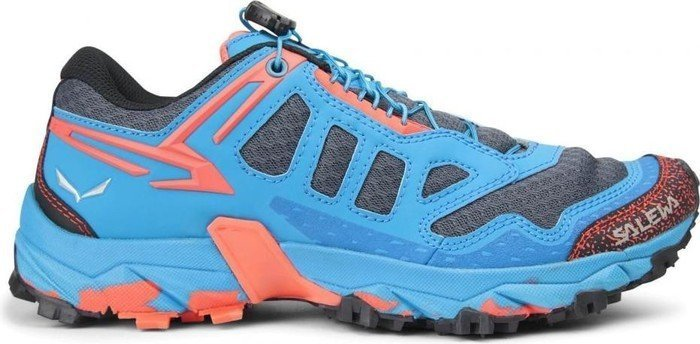Salewa Ultra Train - Bergschuh Damen, Damen Outdoor Fitnessschuhe, Blau (Magnet/Hot Coral 0676), 41 EU (7.5 Damen UK)
