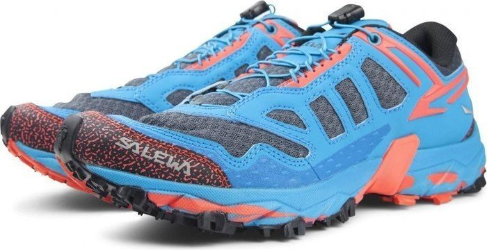 Salewa Ultra Train - Bergschuh Damen, Damen Outdoor Fitnessschuhe, Blau (Magnet/Hot Coral 0676), 35 EU (3 Damen UK)