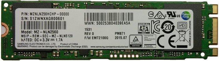 Samsung SSD PM871 256GB, M.2 (MZNLN256HCHP-00000)