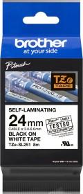 Brother TZe-SL251 Beschriftungsband 24mm, schwarz/weiß (TZESL251)