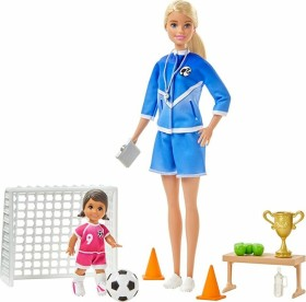 Mattel Barbie I Can Be... Soccer Coach with 2 Dolls and Accessories (GLM47)
