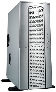 Chieftec matrix MX-01SLD-U Midi-Tower with door and USB/FireWire-front silver (various Power Supplies)