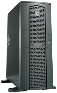 Chieftec matrix MX-01BD-U Midi-Tower with door and USB/FireWire-front anthracite (various Power Supplies)