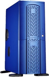 Chieftec matrix MX-01BLD-U Midi-Tower with door and USB/FireWire-front blue (various Power Supplies)