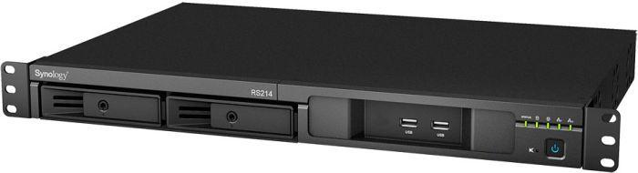 Synology RackStation RS214 8TB, 2x Gb LAN, 1HE
