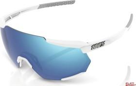 100% Racetrap matte white/hiper blue multilayer mirror (61037-000-75)