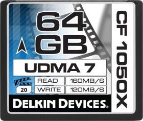 Delkin Cinema 1050X UDMA7 R160/W120 CompactFlash Card 64GB (DDCF1050-64GB)
