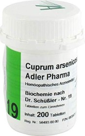 Adler 19 Cuprum arsenicosum D12 tablets, 200 pieces