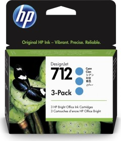 HP Tinte 712 cyan, 3er-Pack (3ED77A)