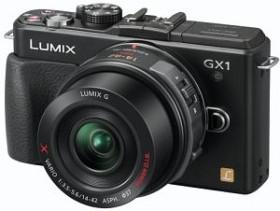 Panasonic Lumix DMC-GX1 schwarz mit Objektiv Lumix G X Vario PZ 14-42mm 3.5-5.6 OIS (DMC-GX1X)