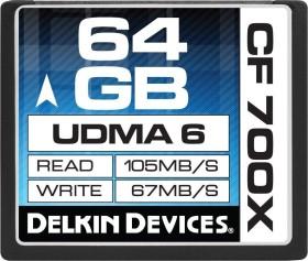 Delkin 700X UDMA6 R105/W67 CompactFlash Card 64GB (DDCF700-64GB)