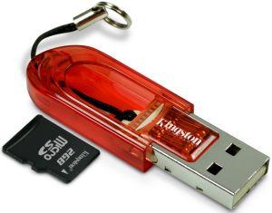 Kingston microSD 2GB mit USB-Adapter (FCR-MRB+SDC/2GB)
