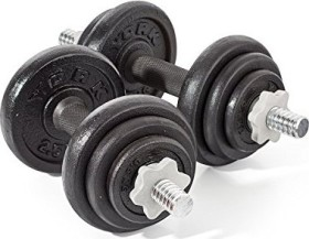 York Fitness Cast cast iron dumb bell set 20kg